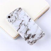 Let op type!! For iPhone 6 & 6s Black White Marble Pattern TPU Protective Back Cover Case
