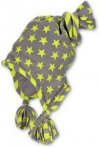 jongens Babymutsje Sterntaler grijze muts met groene sterren maat 41 4046428975649