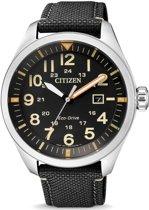 Citizen AW5000-24E Horloge Heren Ecodrive Zwart Nylon