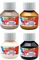 Aqua Tint - Aquarel Verf – 4 Kleuren – 4 x 50ml - Gebruiksklaar