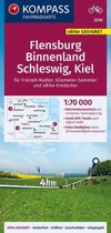 KOMPASS Fahrradkarte Flensburg Binnenland, Schleswig, Kiel 1:70.000, FK 3310