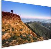 Het Pen y Fan gebergte in het Nationaal park Brecon Beacons in Engeland Plexiglas 120x80 cm - Foto print op Glas (Plexiglas wanddecoratie)
