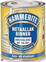Hammerite Metaallak Binnen Krasvast Zijdeglans  Ral9001 500ML