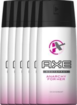 Axe Anarchy For Her - 6 x 150 ml - Deodorant Spray - Voordeelverpakking