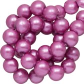 Glasparels (8 mm) Wisteria Purple (100 Stuks)