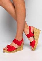 Cellini Dames Sandalen - Rood - Maat 36