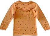 Little Label Meisjes T-shirt - oranje - Maat 122/128