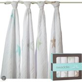 Aden + Anais Inbakerdoek - Swaddle Super Star Scout 4-pack