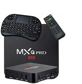 Android 6.0 tv box MXQ PRO 4K Ultra HD + Kodi 17.4 + Rii I8 Zwart Wireless keyboard