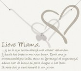 Simply Because Lieve Mama! Armband (zilver, bedel groot&klein hart) 18-20 cm