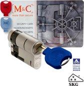 M & C Deurcilinder halve 32mm Anti cilindertrek skg*** incl. 3 sleutels.