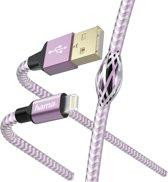 """Hama Oplaad-/gegevenskabel """"Reflective"""", Lightning, 1,5 m, lavendel"""