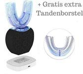 Jumalu 360 graden sonic pro elektrische tandenborstel & tandenbleker V2 - black + extra mondstuk