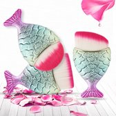 Fishtail,  vis schaal make-up borstel mermaidbrush