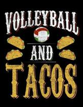 Volleyball And Tacos: Dot Grid Notebook, Dotted Journal Pages For Notes, Bullet Planner Or Organizer For Mexican Food Lovers, Volleyball Fan