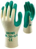Showa Grip 310 klus- en tuinhandschoen professionele kwaliteit - waterdichte latexcoating groen - maat XL/10