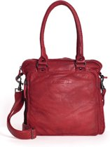 Sticks and Stones - Belize Bag - Buff Washed - Cherry Red