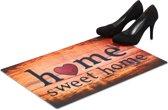 relaxdays deurmat Home Sweet Home - antislip voetmat - weerbestendige schoonloopmat - mat