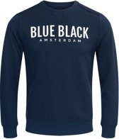 Blue Black Amsterdam Heren Trui Milan 2.0 - Donkerblauw Melange - Maat S