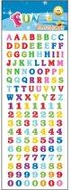 Stickervel letters en cijfers 135 stuks