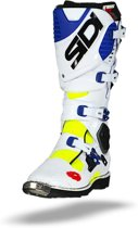 Sidi Crosslaarzen Crossfire 3 White/Blue/Yellow Fluo-40 (EU)
