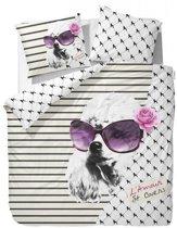 Covers en Co Pje de Poodle Dekbedovertrek - Litsjumeaux - 240x200/220 cm - White