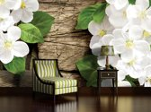 White | Green Photomural, wallcovering