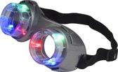Grijze lichtgevende led bril - Verkleedattribuut