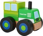 Houten traktor - Bouwvoertuig -  Traktor - FSC® - Speelgoed vanaf 2 jaar jongens
