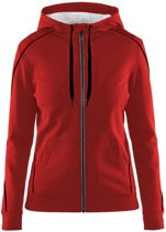 Craft In-The-Zone Full Zip Hood women bright red m