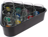Free And Easy Drankspel Shot Glasses 20 Cm Zwart 11-delig