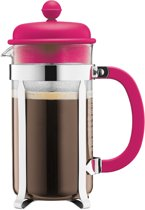 2x Bodum Cafetière - 8 Kops French Press Koffiepers Koffiemaker - 1L - RVS - Roze