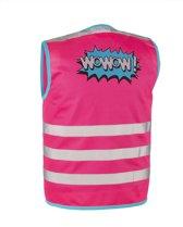 Wowow Kids Wowow! Jacket Roze M - fluohesje voor kind - EN 1150