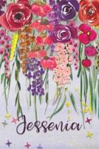Jessenia: Personalized Lined Journal - Colorful Floral Waterfall (Customized Name Gifts)