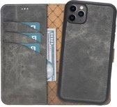 Bouletta Uitneembare 2-in-1 Magneet Leren WalletCase Hoesje iPhone 11 Pro Max - Marble Grey