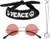 Hippie set voor volwassenen - Verkleedattribuut