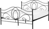 Beliani Lyra - Bed - Zwart - Metaal