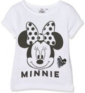 Disney Minnie Mouse t-shirt zwart wit - maat 110