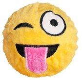 FabDog Faball Wink Emoji - Hond - Speelgoed - Maat M: 10,2 cm - Geel
