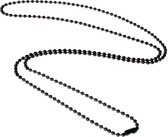 LGT Jewels Dogtag ketting Zwart 2mm-70cm