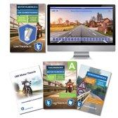 Motor Theorieboek 2019 met Motor theorie samenvatting, verkeersbordenboekje en een uitgebreide oefen Motor Theorie USB