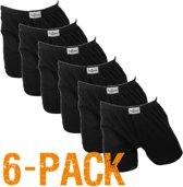 Fun2wear wijd | MAAT M | 6-pack heren boxershorts | zwart