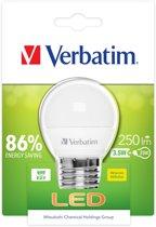 Verbatim LED Mini Globe E14 3,5W (25W) warmwit 250 lm mat