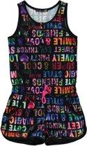 Losan Meisjes Jumpsuit Zwart Met teksten - T26 - Maat 128