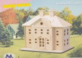 3D Puzzel Bouwpakket Landhuis - hout