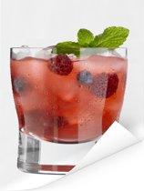 Heerlijke cocktail met fruit en alcohol Poster 30x40 cm - klein - Foto print op Poster (wanddecoratie woonkamer / slaapkamer)