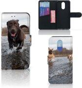 LG Q7 Telefoonhoesje met Pasjes Honden Labrador