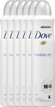 Dove Invisible Dry Women - 6 x 250  ml - Deodorant Spray - Voordeelverpakking