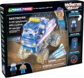 Laser Pegs Monster Truck Destroyer Blauw - Constructiespeelgoed