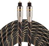 ETK Digital Optical kabel 10 meter / toslink audio male to male / Optische kabel nylon series - zwart